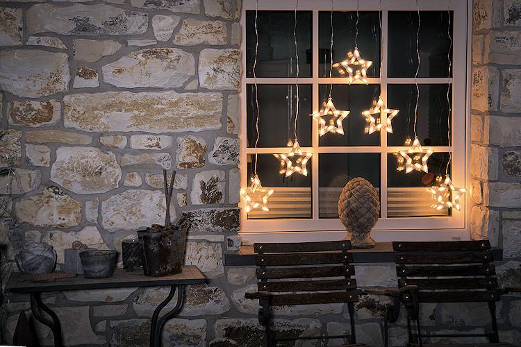 konstsmide led sternen vorhang 7 led sterne warmweiss. Black Bedroom Furniture Sets. Home Design Ideas